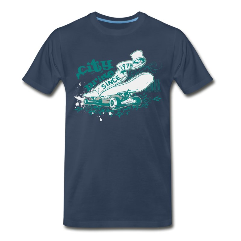 City Skateboard T-shirt - Men's Premium T-Shirt