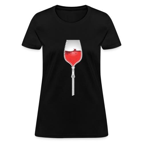 Wine Zipper - Women's T-Shirt