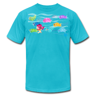 T-Shirts ~ Men's T-Shirt by American Apparel ~ Fishies! - Unisex AA