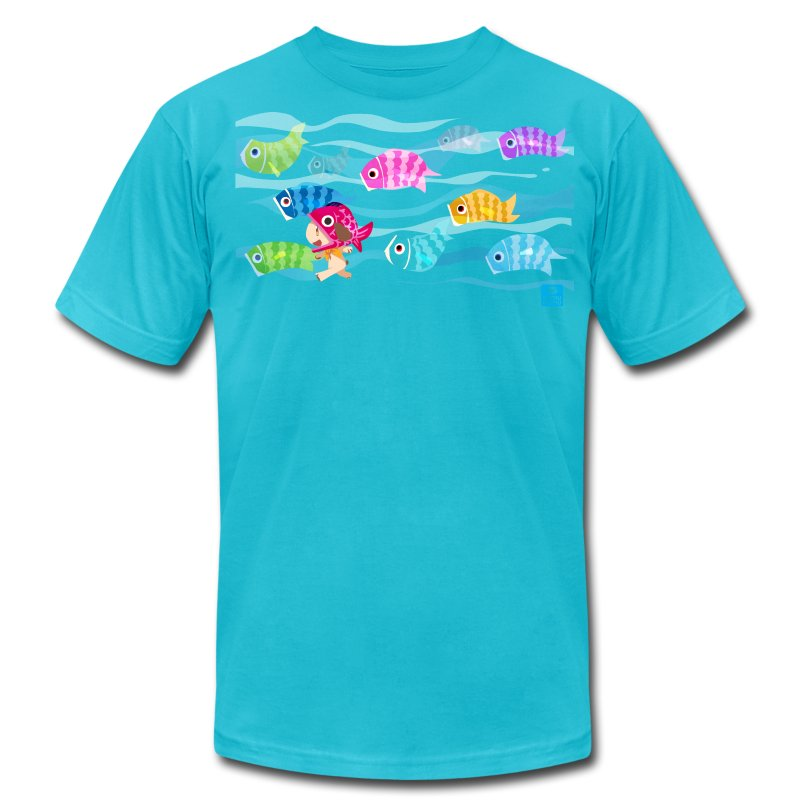 Fishies! - Unisex AA - Men's T-Shirt by American Apparel