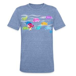 Fishies! - Unisex Triblend - Unisex Tri-Blend T-Shirt by American Apparel