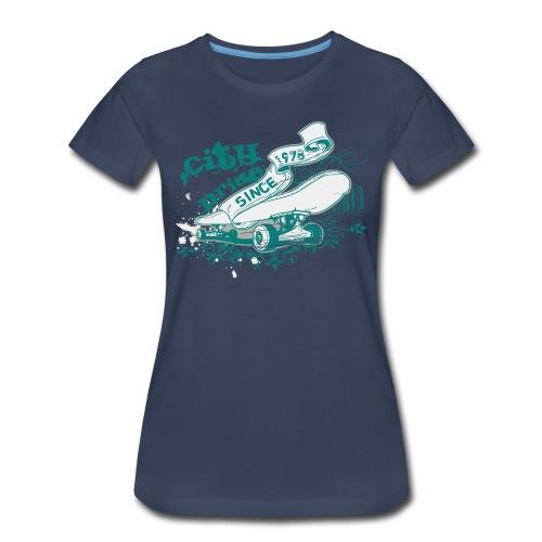 City Skateboard T-shirt - Women's Premium T-Shirt