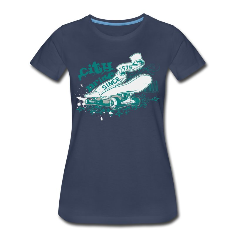 City Skateboard T-shirt - Women's Premium T-Shirt