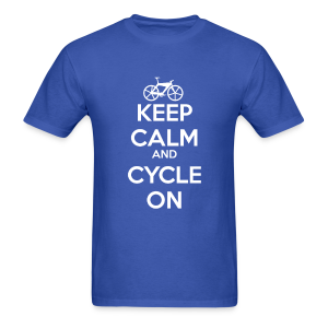 Keep calm and cycle on - Men's T-Shirt