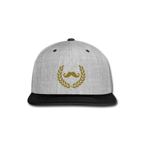 Mstache Hat - Snap-back Baseball Cap