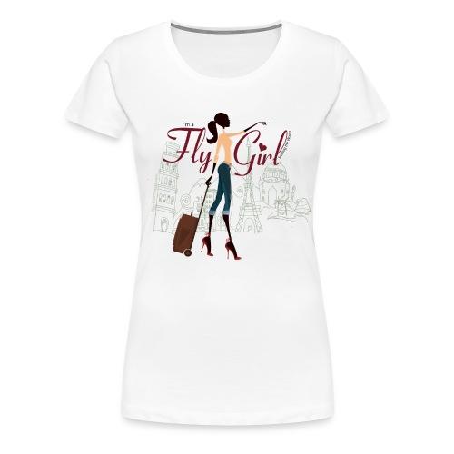 Chic FlyGirl - White Tee - Women's Premium T-Shirt