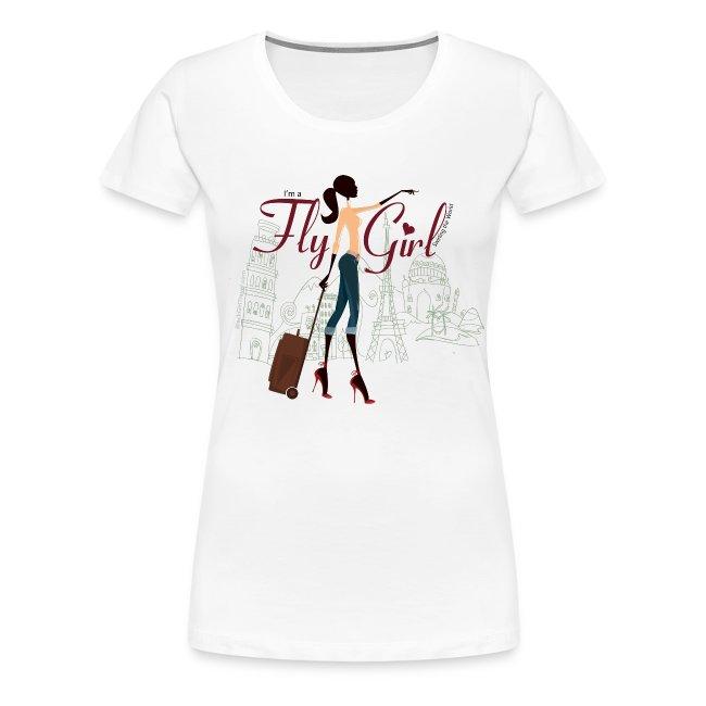 Chic FlyGirl - White Tee