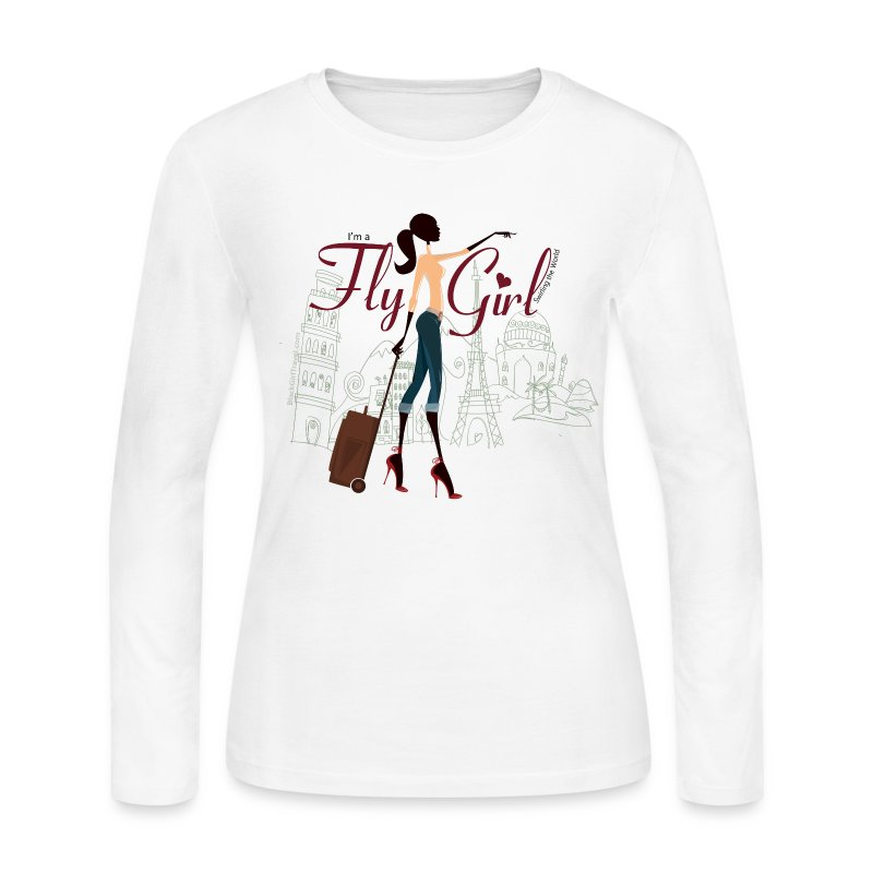 Chic FlyGirl - Long Sleeve Tee - Women's Long Sleeve Jersey T-Shirt