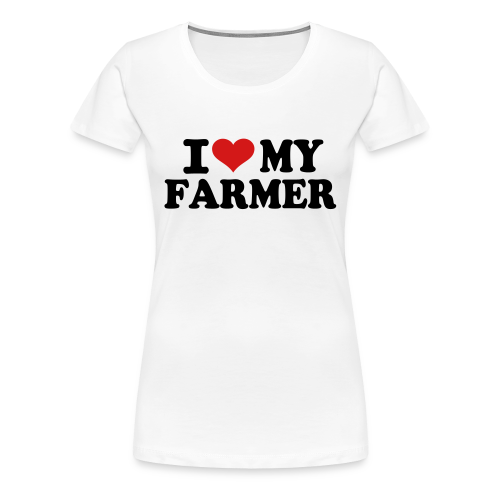Heart My Farmer Tee - Women's Premium T-Shirt