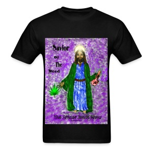 Savior of the Weed Shirt by @dankraven420 - Men's T-Shirt