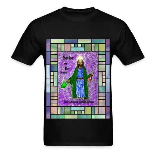 Stained Glass Savior shirt by @dankraven420 - Men's T-Shirt