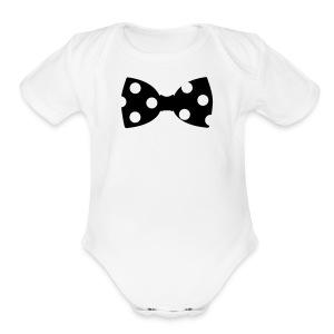 Bowtie Onesie - Short Sleeve Baby Bodysuit