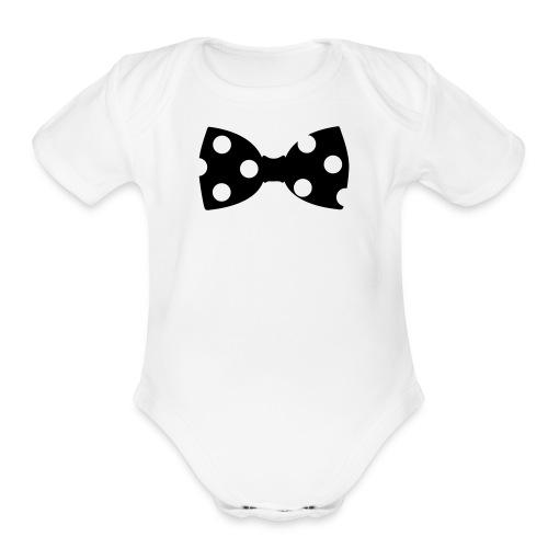 Bowtie Onesie - Organic Short Sleeve Baby Bodysuit