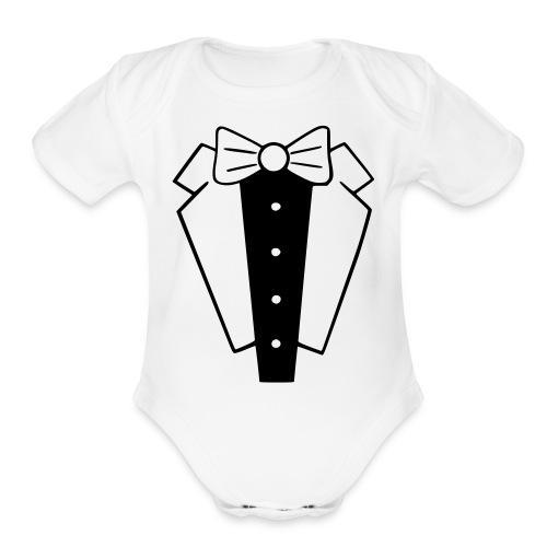 tux Onesie - Organic Short Sleeve Baby Bodysuit