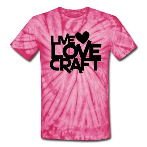 live love craft tie die tee - Unisex Tie Dye T-Shirt