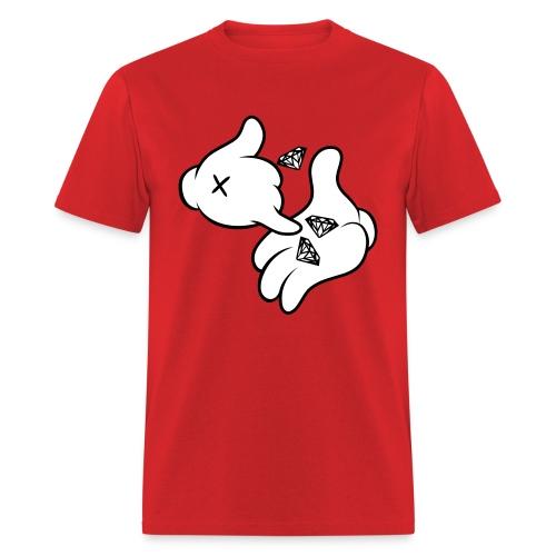 Cutztom Jewlz Ent Diamonds In Hand T-Shirt  - Men's T-Shirt