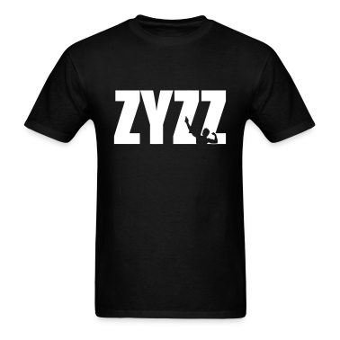 Zyzz Pose Text Vector T-shirt