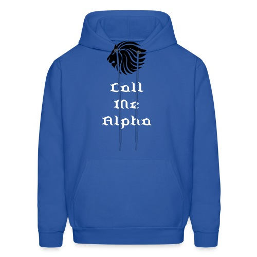 Call Me Alpha (Men's Hooded Sweatshirt) - Men's Hoodie