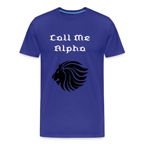 Call Me Alpha (Men's Crew Neck T-Shirt) - Men's Premium T-Shirt