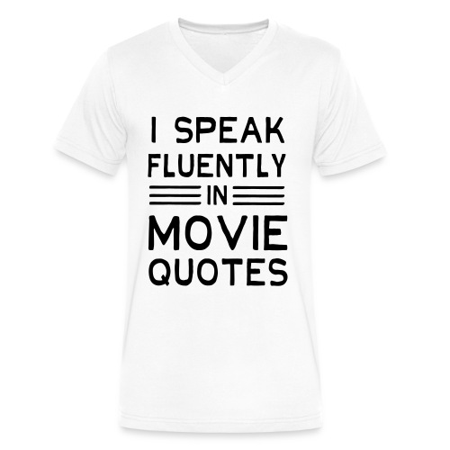 Speak-Movie - Men's V-Neck T-Shirt by Canvas