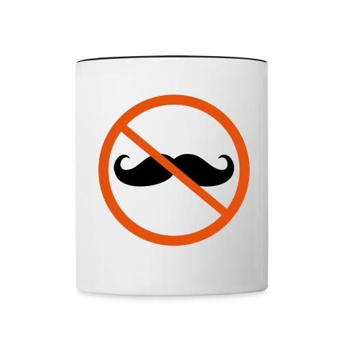 Tasse avec moustache - Contrast Coffee Mug