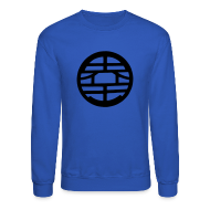 Long Sleeve Shirts ~ Men's Crewneck Sweatshirt ~ King Kai DBZ Logo Crewneck