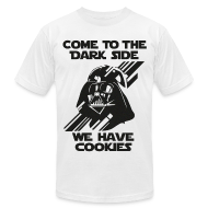 T-Shirts ~ Men's T-Shirt by American Apparel ~ Darth Come To The Dark Side Tee