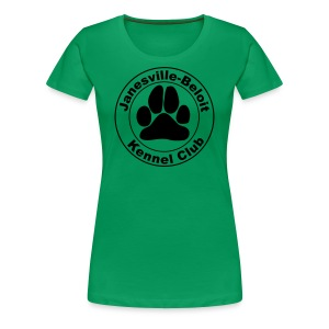 Women's Premium T-Shirt - T-shirt with Janesville-Beloit Kennel Club's logo.