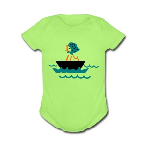 sailing hen Baby short sleeve one piece - Short Sleeve Baby Bodysuit