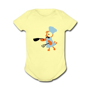Cooking hen Baby short sleeve one piece - Short Sleeve Baby Bodysuit