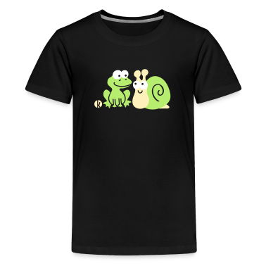 Frog and Snail Buddies Kids' Shirts