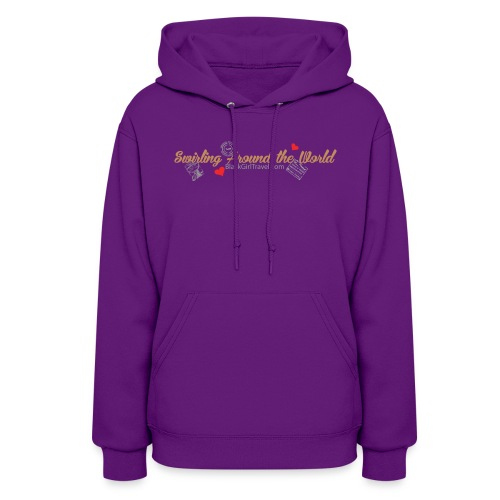 Swirling - Passport Stamp - Purple - Women's Hoodie