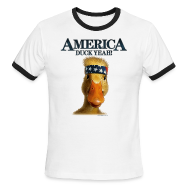 T-Shirts ~ Men's Ringer T-Shirt by American Apparel ~ America, Duck Yeah! Shirt