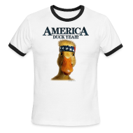 T-Shirts ~ Men's Ringer T-Shirt by American Apparel ~ America, Duck Yeah! Shirt