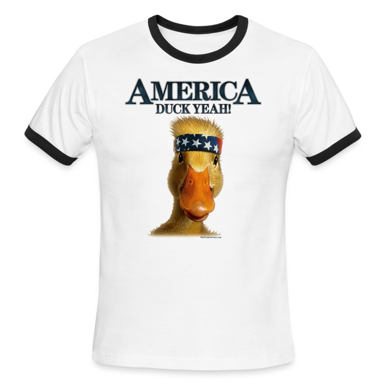 America, Duck Yeah! Shirt - Men's Ringer T-Shirt