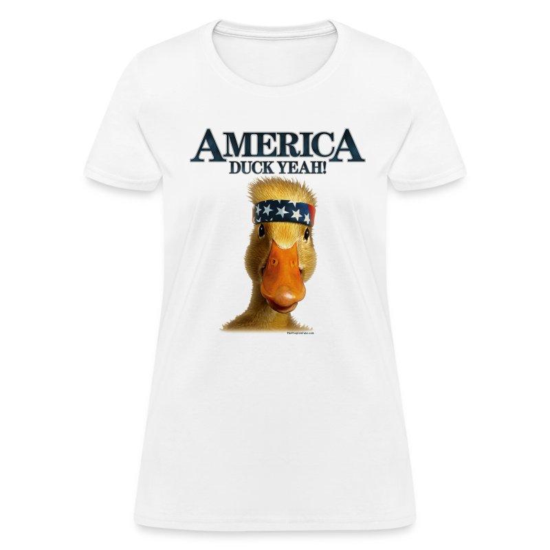 America, Duck Yeah! Shirt - Women's T-Shirt