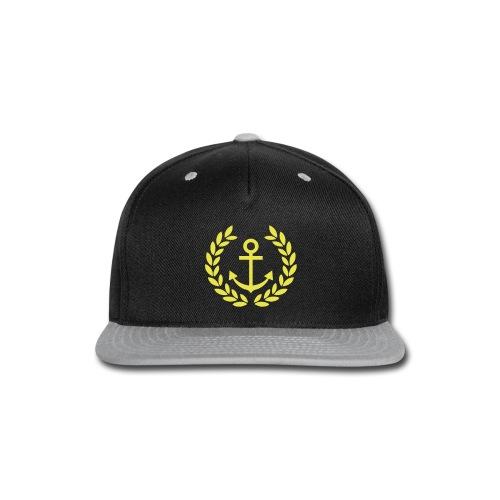 Golden Anchor Snapback - Snap-back Baseball Cap