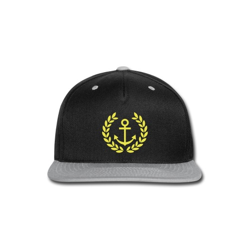 Golden Anchor Snapback - Snap-back Baseball Cap