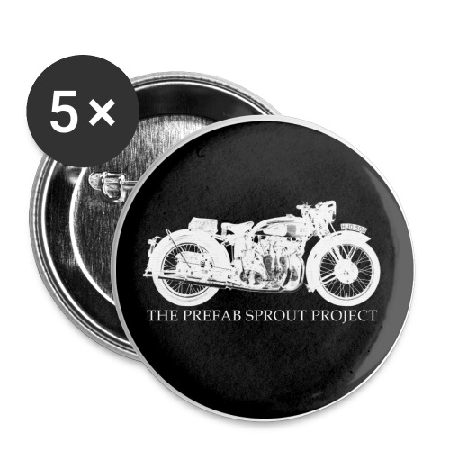 TPSP White Bike Button - Buttons large 2.2'' (5-pack)