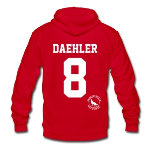 Daehler - Zip-up (S Logo) - Unisex Fleece Zip Hoodie by American Apparel