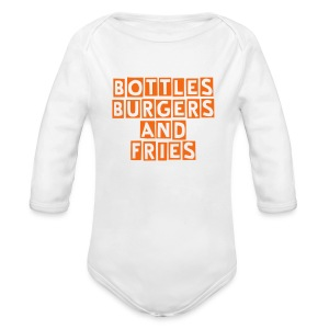 Bottles, Burgers And Fries Baby One piece - Long Sleeve Baby Bodysuit