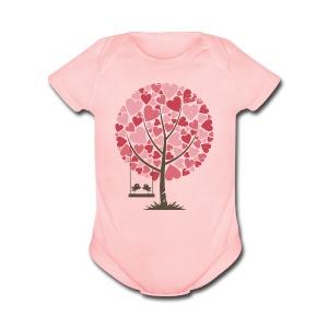 Lovebirds - Short Sleeve Baby Bodysuit