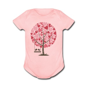 Lovebirds - Short Sleeve Baby Bodysuit