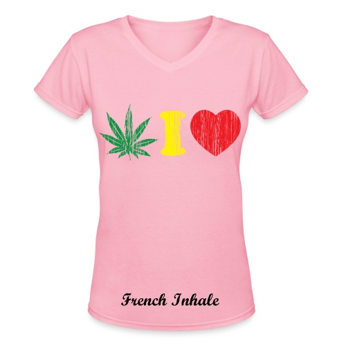 Weed - Women's V-Neck T-Shirt