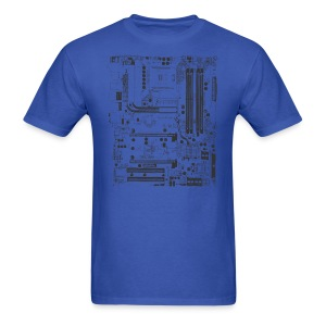 Motherboard Computer Parts Graphic T-Shirt - Men's T-Shirt