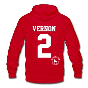 VERNON 2 - Zip-up (S Logo) - Unisex Fleece Zip Hoodie by American Apparel