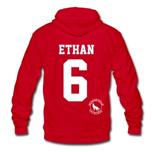 ETHAN 6 - Zip-up (S Logo) - Unisex Fleece Zip Hoodie by American Apparel