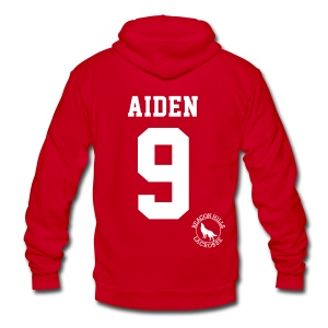 AIDEN 9 - Zip-up (S Logo) - Unisex Fleece Zip Hoodie by American Apparel