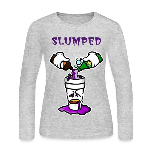 Women's Slumped Long Sleeve Shirt - Women's Long Sleeve Jersey T-Shirt