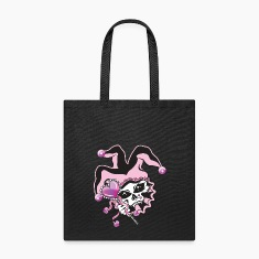 Jester of Hearts Skull Bags & backpacks
